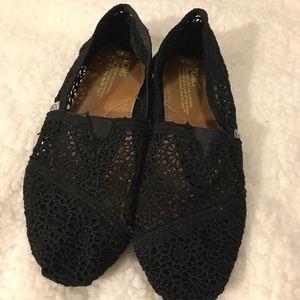 Toms Shoes - Toms | Black Crochet Women's Classic Slip On's